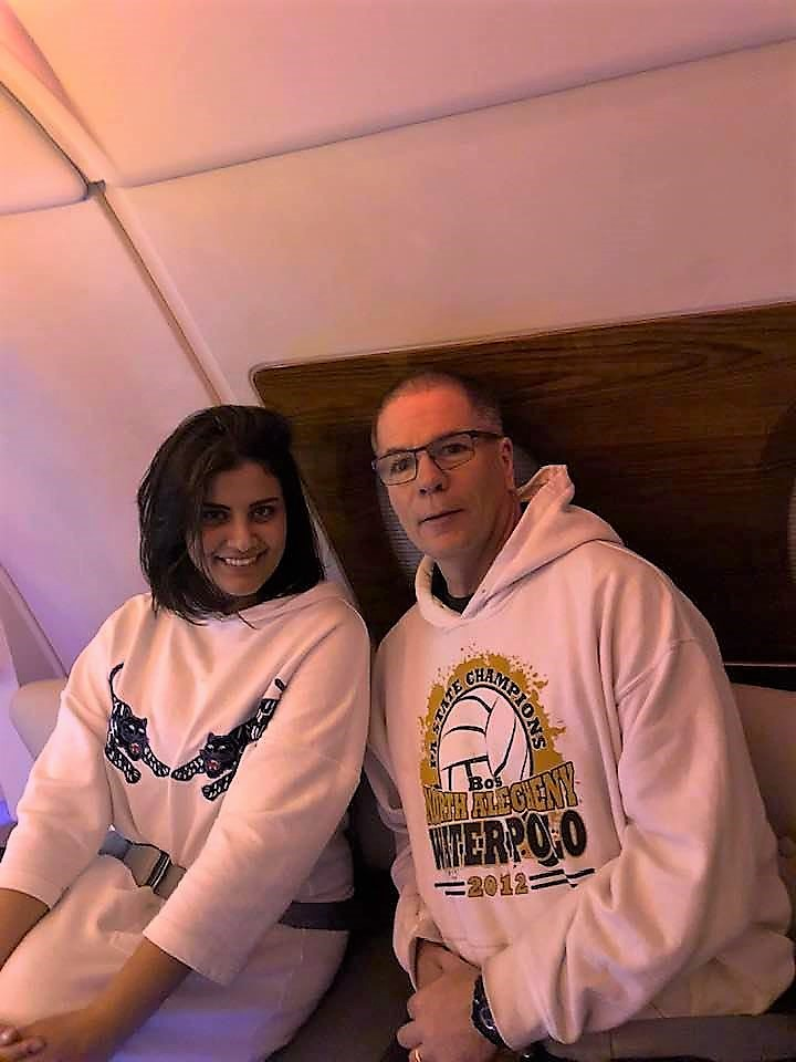Airplane visit with Mark